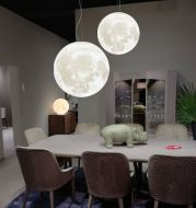 Chandelier bedroom lamp personality single head 3D restaurant hanging lamps
