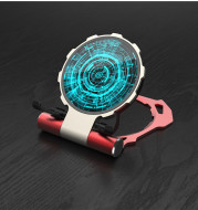 Iron Man Metal QI Wireless Charger Stand Desktop Mobile Phone Charger For iPhone X Samsung S9 S8 10W Fast Charging Pad