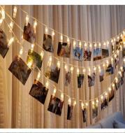 LED Photo Holder String Lights