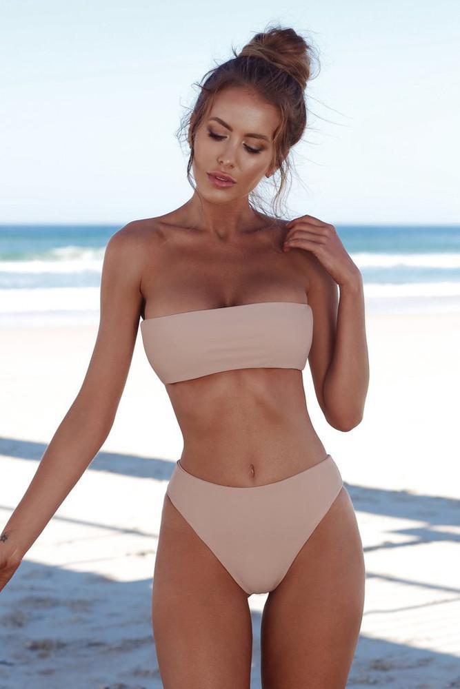 300161003670 Quick selling explosive edition, fashionable chest wrapped + triangle shorts, bikini split swimsuit, sportswear 6 color spot