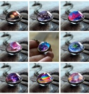 2020 New Nebula Galaxy Double Sided Pendant Necklace