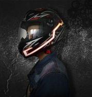 Motorcycle Helmet EL Cold Light Helmet Light Strip Night Signal Luminous Modified Strip Helmet Sticker