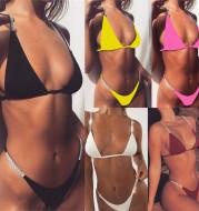 European and American sequins sexy bikini split swimsuit ladies