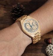 Men's Engraved Wooden Watch