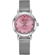 GIMTO Brand Women Quartz Silver Watch Metal Bracelet Wrist Watches Analog Ladies Dress Hand Clock Montre Femme