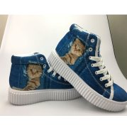 Custom Pictures or Logo Women Casual Shoes Classic High Top Platform Shoes Woman Height Increasing Flats Female