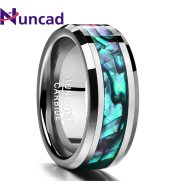 Tungsten Gold Ring With Black Veneer Plating