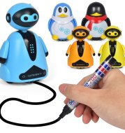 Drawn Line Magic Pet Toy Robot Pen Inductive Animal Follow Black Track Auto Run