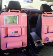 Auto Car Backseat Organizer Car-Styling Holder Multi-Pocket Seat Wool Felt Storage Multifunction Vehicle Accessories Bag