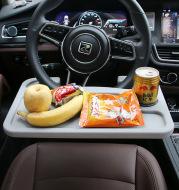 Steering wheel card table