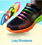 12pcs Lazy No Tie Elastic Silicone Shoelaces Athletic Running Sport Shoelaces Children and Adult Shoe Strings For NMD sneakers