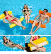 Inflatable Swimming Pool Chair Floating Bed Lounger