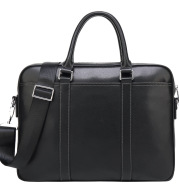 Men's leather portable briefcase file package