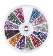 Diamond fake nails domestic rhinestones 12 colors