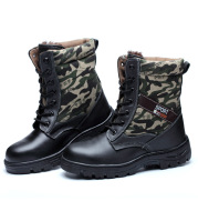 Factory direct labor safety shoes help camouflage winter high plus velvet cold warm comfortable anti smashing puncture proof shoes