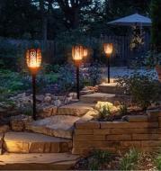 LED Waterproof  Solar Torch Light Lamp Outdoor Landscape Decoration Garden Lawn Light