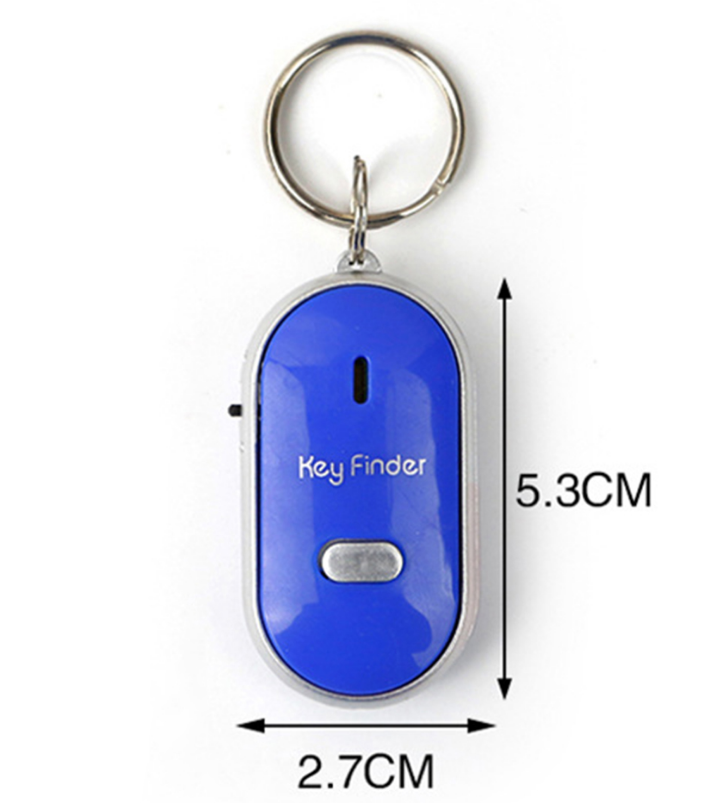 New LED whistle control induction key ring Elderly key finder Multi-function key anti-lost device allinonehere.com