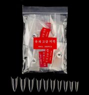 Manicure 500 Pieces of Fake Nail Tips Natural Fake Nail Tips Transparent Pieces Pointed A Pieces Korean Standard