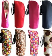 Eight color can be used to hang baby stroller baby insulated bottle bag Korean version of insulated   milk bottle bag