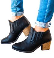 Mid-heel booties