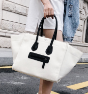 Summer new handbag smiley canvas bag big bag