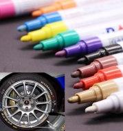 Colorful Waterproof Pen Car Tyre Tire Tread CD Metal Permanent Paint