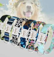 Pet Dog Name Collar Custom Large Dog Collar Lettering Tag