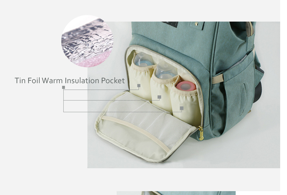 Baby Mommy Multi-Function Large-Capacity Diaper Bag Backpack Fashion Maternal And Child Package With Different Color Options