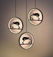 Creative deer chandelier Nordic restaurant personality modern minimalist aisle porch art single bar chandelier