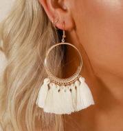 Big Round Drop Dangle Earrings