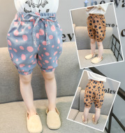 Children's wear children 2021 summer new size point shorts in the children's little girl casual loose pants