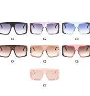 Sunglasses fashion PC big box square color box sunglasses personality legs decorative glasses