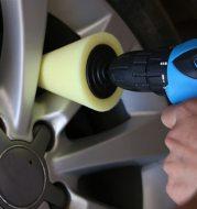 Car wheel polishing disc detail polishing wheel in the net steel ring polishing sponge plate with 6MM handle cone sponge wheel