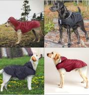 Pet Reflective Big Dog Rainwear Dog Rainwear Super Waterproof Cap All-in-One Dog Clothes