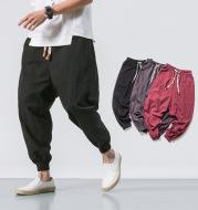 Mens Hip Hop Streetwear Gym Joggers Pants Drawstring Elastic Pockets Tapered Sweatpants