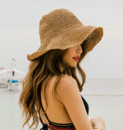 Summer Outing Sunscreen Hat for Women with Foldable Straw Hats Holiday Cool Hat Beach Hat