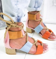 Round Head Color Matching in the Thick with Women's Large Size Fashion Sandals 34--43