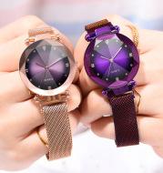 New Fashion Women Mesh Magnet Buckle Starry Sky Watch