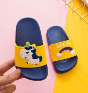 Children's Slippers Boys and Girls Indoor Children's Beach Slippers Non-slip Cute Cartoon Unicorn Home Shoes