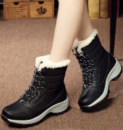 Plus velvet high-top women's shoes waterproof snow boots