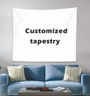 Personalized bohemian photo custom tapestry