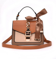 School bag student style wild fashion handbag silk scarf shoulder Messenger bag