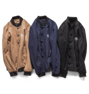 Chinese wind button men's cardigan clip