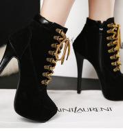 Cross strap stiletto Martin boots