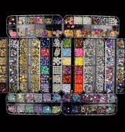 Multi-size Nail Rhinestones 3D Crystal Nail Stones Gems Pearl DIY Nail Art Decorations