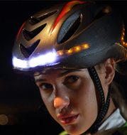 Intelligent steering helmet led bicycle equipment