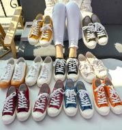 Biscuit shoes canvas shoes men's white shoes