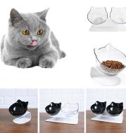 Cat Double bowl cat food bowl anti vomiting pet bowl elevated cat bowl