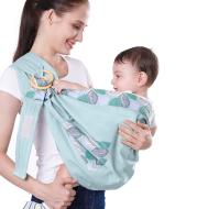 Baby Wrap Carrier Sling Adjustable Infant Comfortable Nursing Cover Soft Breathable Breastfeeding Carrier