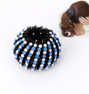 Bird's Nest Hairpin Color Rhinestone Ponytail Ball Hairpin